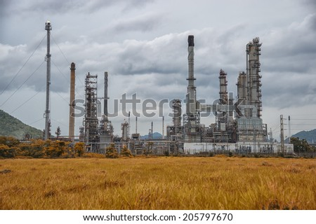 Refinery factory - stock photo