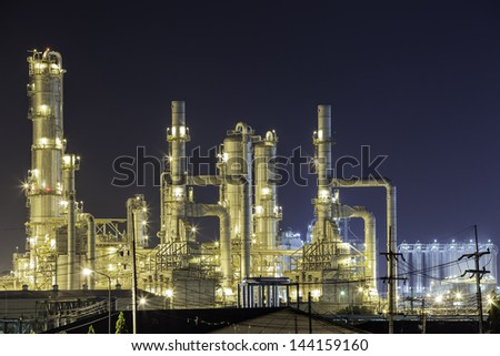 Refinery in Rayong province - stock photo