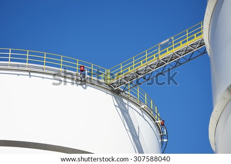 Refinery in the Netherlands - stock photo