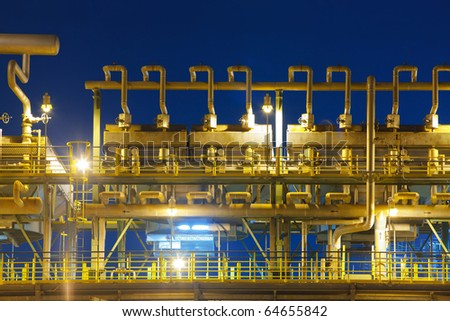 Refinery industrial oil transportation tube - stock photo
