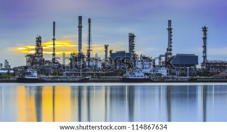 Refinery industrial plant - stock photo