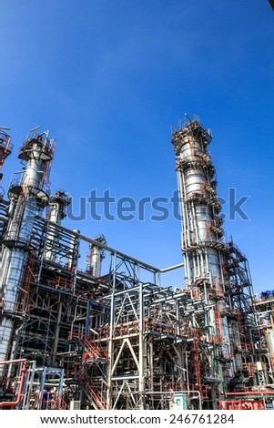 Refinery Industry tank production petroleum and pipeline.