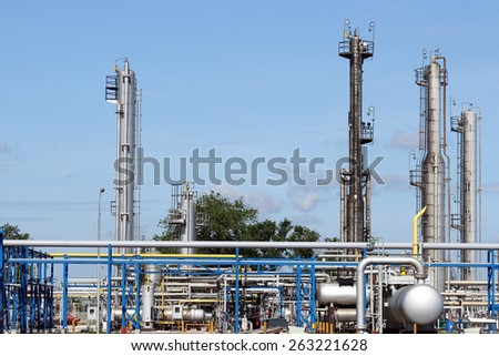 refinery oil industry pipelines  - stock photo