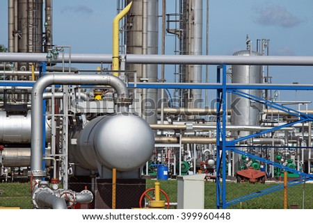 refinery petrochemical plant pipelines industry zone