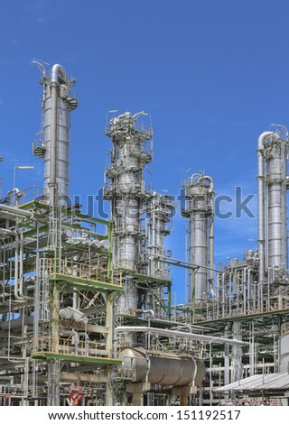 Refinery plan of chemical industrial with blue sky