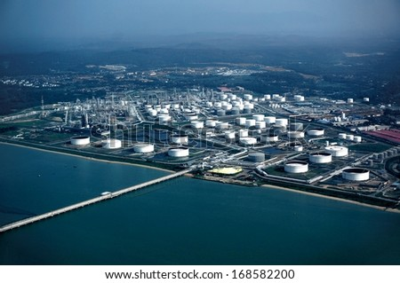 Refinery plant - stock photo