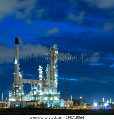 Refinery plant During the morning of blue sky