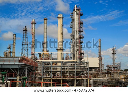 Refinery plant Thailand oil and gas - August 30 th, 2016 : pipeline oil and gas production petroleum refinery