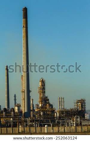 Refinery Structures Refinery factory structure landscape