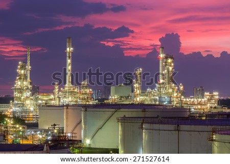 Refinery to light evenings. - stock photo