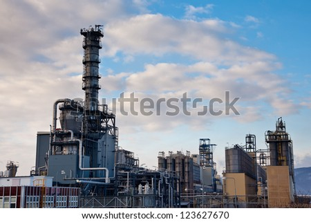 Refinery  tower  - stock photo