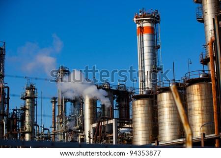 Refinery Towers - stock photo