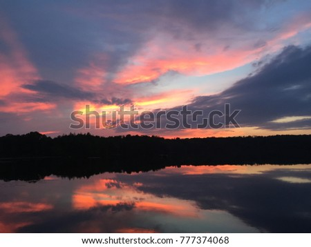 Reflecting color of Sunset