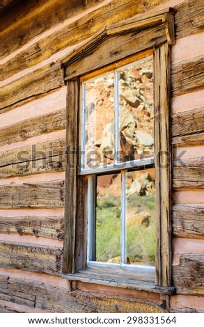 Reflecting Window at Capitol Reef National Park - stock photo