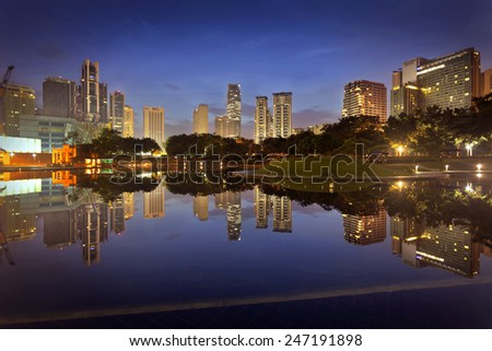 Reflection at Kuala Lumpur City Center