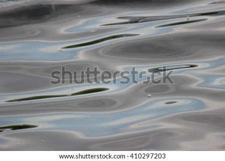 Reflection In river water . Open aperture, shallow depth of field. local focus