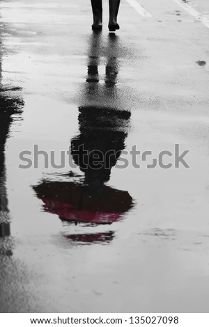 reflection in the water - stock photo