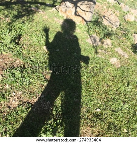 reflection of a woman - stock photo