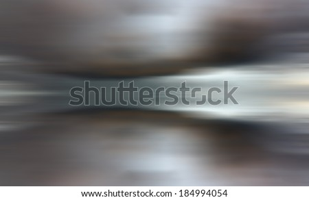 Reflection of clouds with long exposure effect, motion blurred - stock photo