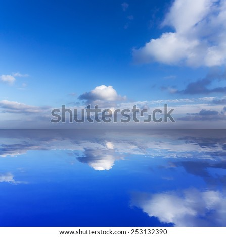 reflection of the sky \ reflection of the sky abstract formitaliya - stock photo