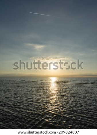 reflection of the sun in the sea