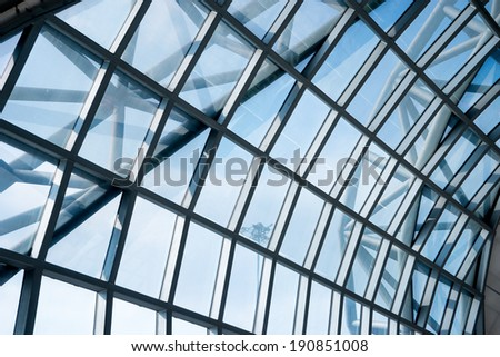 Reflection of window, a modern business futuristic interior  - stock photo