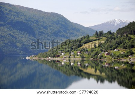 Reflections in Nordfjord from Loen