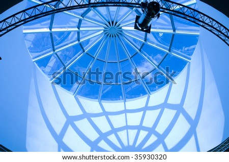 Reflections of the sky in windows - stock photo