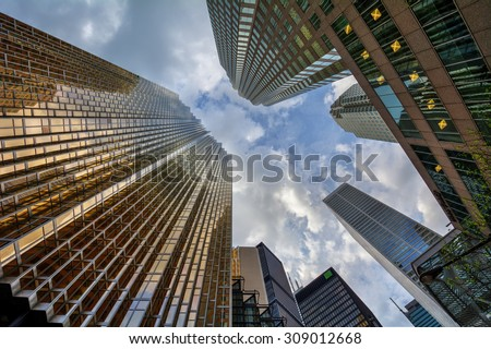 Reflections on the building! - stock photo