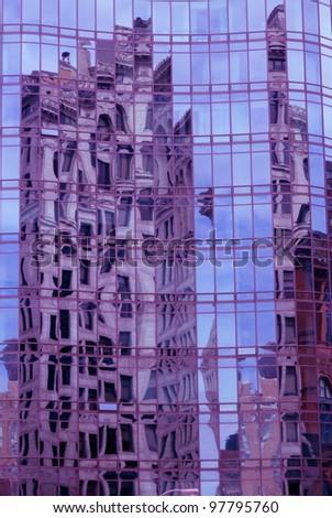 reflective facade - stock photo