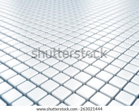 Reflective floor metal square texture - stock photo