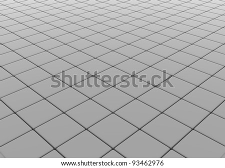 Reflective floor - this is a 3d render illustration - stock photo