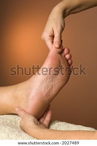 Reflexology Massage Toe Zone - stock photo