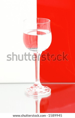 Refracting glass - stock photo