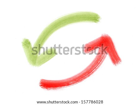 Refresh arrows - stock photo