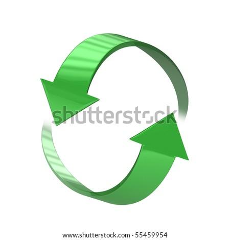 Refresh Icon - [isolated on white background] - stock photo