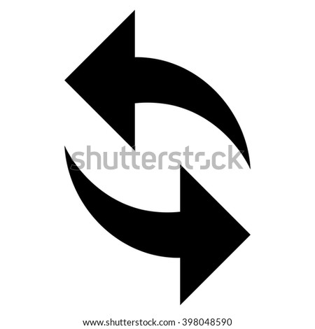 Refresh raster icon. Style is flat icon symbol, black color, white background. - stock photo