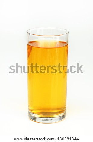 Refreshing apple juice in a glass - stock photo