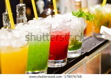 Refreshing cocktail - stock photo