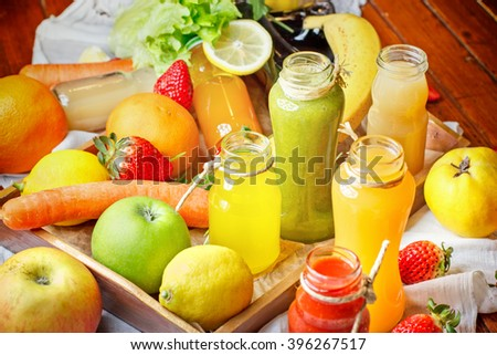 Refreshing drinks - healthy drinks (juice and smoothie)