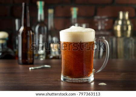 Refreshing Empty Beer Mug in a Bar