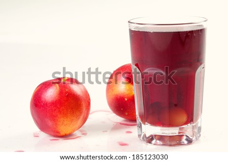 refreshing fruit and berry juice - stock photo