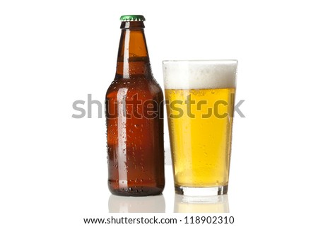 Refreshing Ice Cold Beer against a background