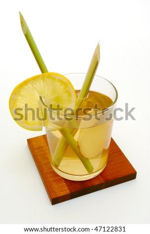 refreshing lemongrass and ginger tea - stock photo