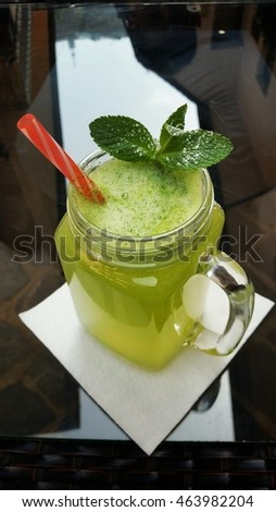 Refreshing pepermint limonade