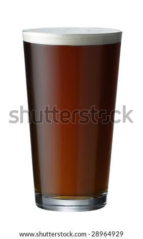 Refreshing pint of real ale beer in a pint glass - stock photo