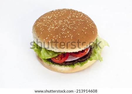 refreshment hamburger - stock photo