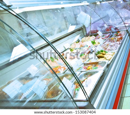 refrigerated case - stock photo