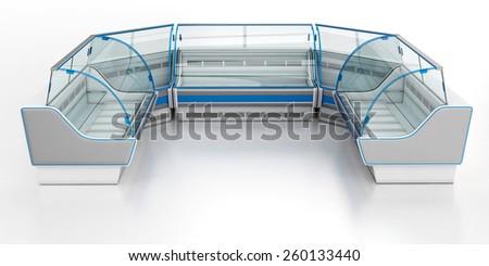Refrigerated market display - stock photo