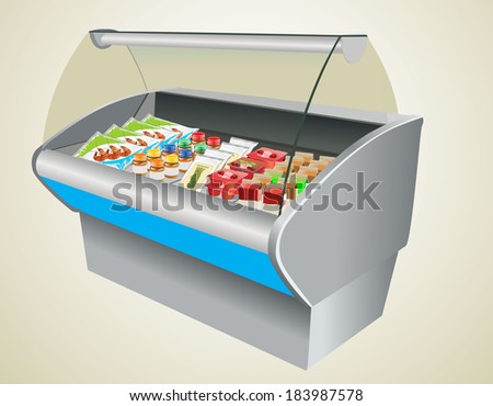 refrigerator in a shop - stock photo